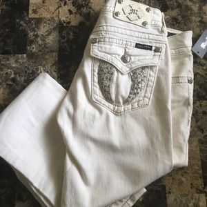 Miss me skinny jeans size 29 white NWT